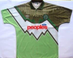 Grimme fodboldtrøjer - Celtic udebanetrøje 1991-92