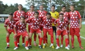 Grimme fodboldtrøjer - Recreativo Huelva Hjemmetrøje 2012-13