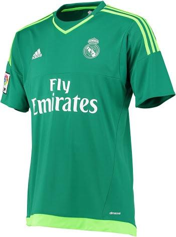 Real Madrid målmandstrøje grøn 2015/16