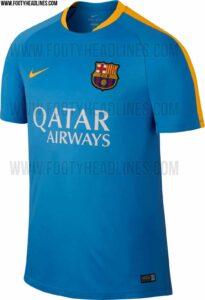 FC Barcelona 2015-16 træningstrøjer lys blå