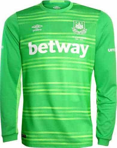 West Ham målmandstrøje grøn 2015-16