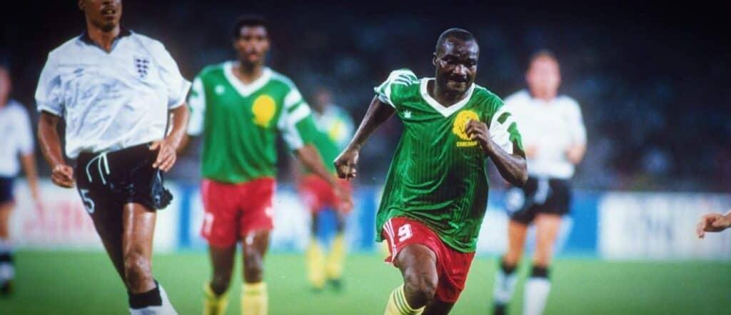 Camerouns trøje ved VM 1990 i Italien
