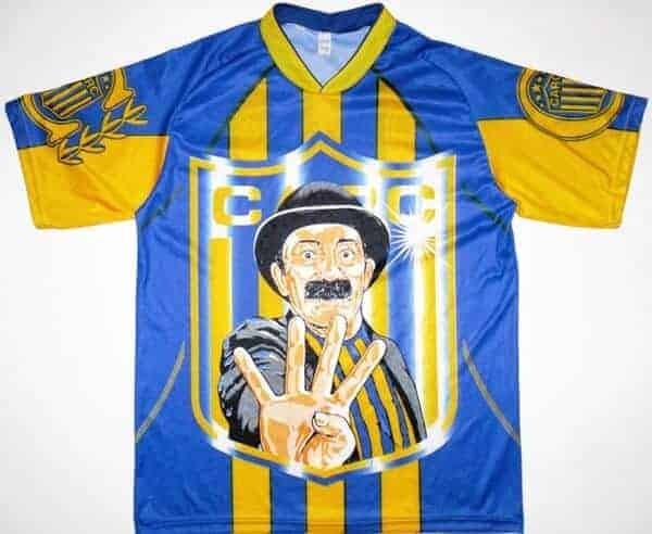 Rosario Central trøje med motiv af Alberti Olmedo