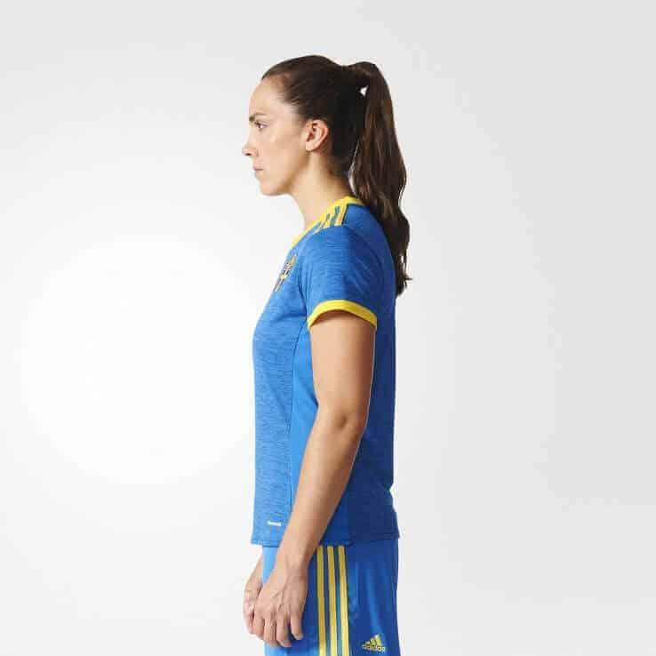 Sverige EM 2017 kvinder hjemmebanetrøje fra siden