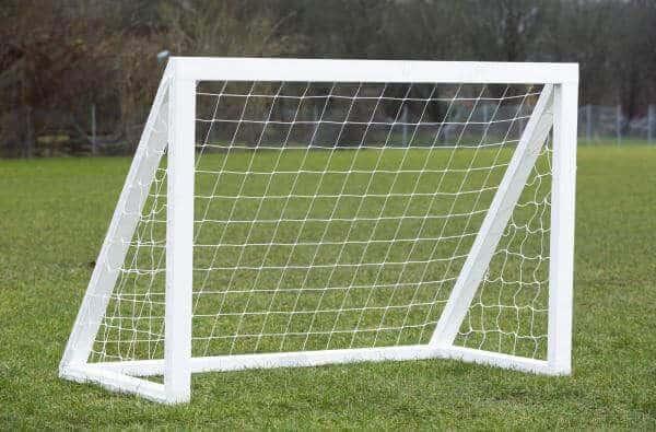 Fodboldmål i træ fra Homegoal Classic Pro Mini Hvid 120x150